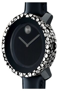 Movado 'Large Bold' Watch & Skull Case Cover