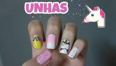 Bruna Virgínia da Silva Unhas de unicórnio! Unicorn nail art