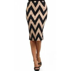 Bold Chevron Pencil Skirt - apostolicclothing-com