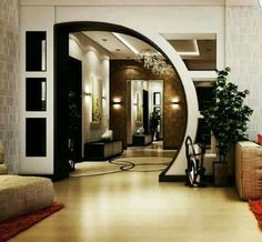 New Pop arch design Interior Design Living Room, Living Room Designs, Interior Decorating, Decorating Ideas, Living Room Modern, Living Room Decor, House Arch Design, Plafond Design, Partition Design