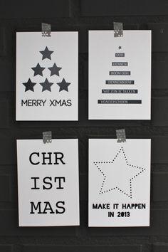 Sencillas tarjetas en blanco y negro
