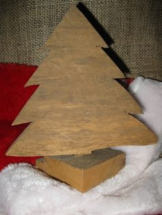 Primitive Chunky Christmas Tree Rustic by TallahatchieDesigns, $7.00