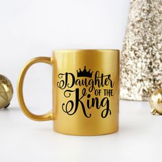 Daughter of the King Coffee Mug for Women Christian Home Decor Home Goods for Women Christian Gifts for Women Christian Gifts For Women, Christian Shirts, Daughters Of The King, Daughter Of God, Mr Mrs Mugs, Cricket Crafts, Crystal Centerpieces, Guitar Photos, Bible Qoutes