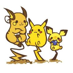raichu evaluation Old Pokemon, First Pokemon, Pikachu Evolution, Pichu Pikachu Raichu, Pokemon Fusion, Digimon, Nerdy, Childhood