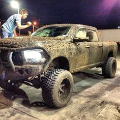 Dodge Ram Lifted Truck, thats how a truck should look ;) hope my dodge will look like this Jacked Up Trucks, Ram Trucks, Diesel Trucks, Cool Trucks, Chevy Trucks, Pickup Trucks, Lifted Cars, Diesel Dodge, Muddy Trucks