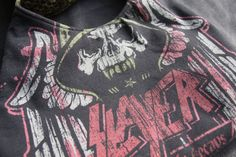 SLAYER  Upcycled Rock Band Tshirt Purse  OOAK by evilrose on Etsy, $27.00