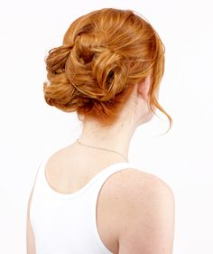 Knot up bun would look better with an off-the-shoulder black dress and diamond drop earrings. Still beautiful.