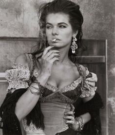 """Herb Ritts photograph... Gitanes, 1989 - 1990...#bohemian style and """"attitude."""""""