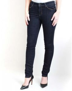 Armani Jeans Dark Wash J18 Slim Tobacco Stitch Jeans