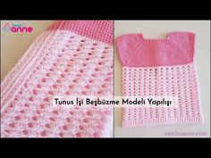 Tunus İşi Beşbüzme Modeli Yapılışı - YouTube Vest Pattern, Free Pattern, Baby Vest, Free Youtube, Crochet Designs, Crochet Hats, Beautiful, Fashion, Knitting Hats