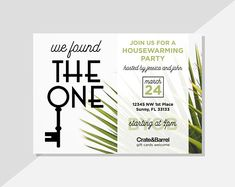 Host your housewarming party with these personalized PRINTABLE invitations! With a rustic modern charm, these digital invitations are super adorable and made to order. Available via Etsy at DiamariDesigns Digital Invitations, Printable Invitations, Custom Invitations, Housewarming Party Invitations, Text Layout, Printable Designs, Text Color, Rustic Modern, Crate And Barrel
