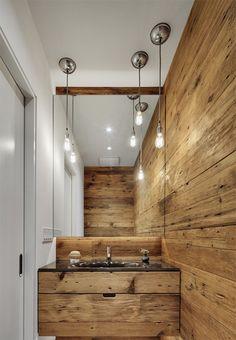 10 ideas para amueblar el baño con madera natural