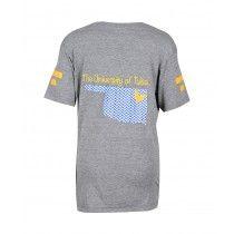 The University Of Tulsa Chevron Oklahoma Eco Grey Boyfriend V Neck T Shirt! #iweargwear #gwear #ecofriendly #womensfashion #uoftulsa #gameday #collegiate