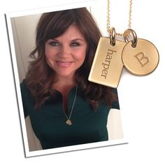 Roseanne Collection - 2 Tag Initial Necklace