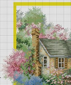 VK is the largest European social network with more than 100 million active users. Cross Stitch House, Cross Stitch Charts, No Name, Cross Stitching, Photo Wall, Embroidery, Painting, Wall Photos, Stitches