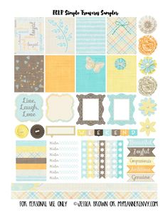 My Planner Envy: Simple Treasures Sampler - Free Planner Printable