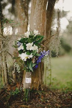 Blue Delphinium, Delphiniums, Louisiana Plantations, Wax Flowers, Stonehenge, Daisies, Our Wedding, Bouquet, Margaritas