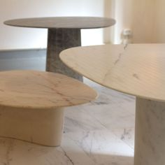 Marble tables // Luce di Carrara