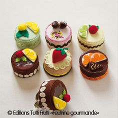 Gâteaux en feutrine / Felt cakes