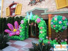 Fotos - Sininho- Cenário Balões - Excelência em Decoração