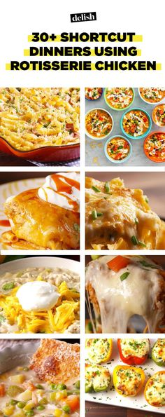 Recipes Using Store Bought Rotisserie Chicken - Leftover Chicken Recipes—. Recipe Using Leftover Chicken, Recipes Using Rotisserie Chicken, Leftover Rotisserie Chicken, Roast Chicken Recipes, Healthy Chicken Recipes, Cooking Recipes, Drink Recipes, Broasted Chicken, Leftovers Recipes