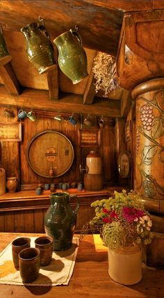 The Green Dragon Inn in Hobbiton near Matamata, New Zealand ☛ http://www.dailymail.co.uk/news/article-2246428/Middle-Earth-hostelry-opens-public--luckily-pints-arent-Hobbit-sized.html