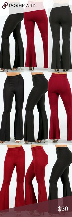 Bell bottom pants NWT Bell bottom pants with pleated accents. Content: 97% Polyester 3%spandex Made in USAMade inMade in USA Jesi Pants Track Pants & Joggers