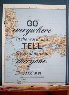 oneofmanyambassadorsofchrist:  Mark 16:5 KJVAnd he said unto them, Go ye into all the world, and preach the gospel to every creature.
