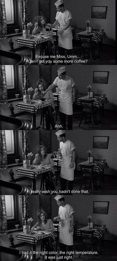 Coffee and Cigarettes - Renee... The most perfectly made scene