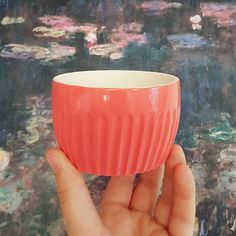 Ceramic pink tumbler spice jar cup Take it alone or as a