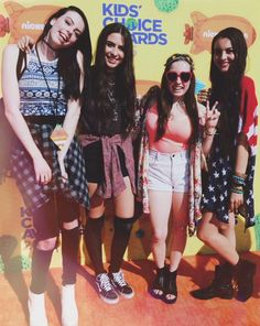 2/3 Of Cimorelli at the KCA OMG THEIR OUTFITS