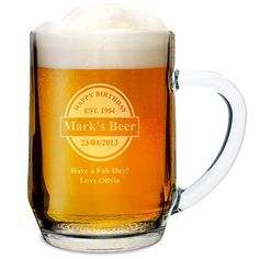 Personalised Established Beer Label Tankard  from Personalised Gifts Shop - ONLY £10.95