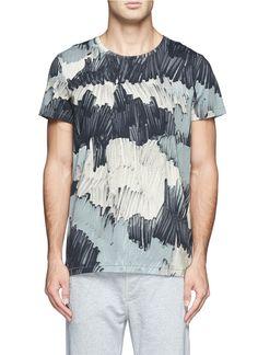 ACNE STUDIOS - 'Standard Marker' print T-shirt | Multi-colour Short Sleeves T-Shirts | Menswear | Lane Crawford