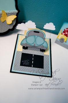 the little blue room: Cool Cards With Cool Moves! Punch Art Cards, Pop Up Cards, Cool Cards, Fancy Fold Cards, Folded Cards, New Home Cards, Stampin Up, Slider Cards, Interactive Cards
