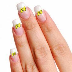 Jeff Gordon 4-Pack Temporary Nail Tattoos