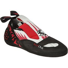 Red Chili Nacho Climbing Shoe Red/White/Black, UK -- Be sure to check out this awesome product. Chili Nachos, Zero Drop Shoes, Climbing Shoes, Red Chili, Outdoor Woman, Red And White, Black, Barefoot, Footwear