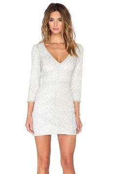 SAYLOR Naomi Sequin Dress in Platinum   REVOLVE