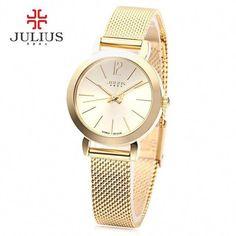 bec2cf75e639 JULIUS Luxury Brand Women Watch Fashion Rose Gold Watches Women Fashion  Casual Quartz Ladies Wristwatch Reloj Mujer Clock Female