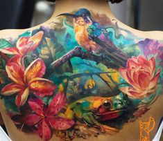 Awesome full colors realistic tattoo style of Nature motive done by tattoo artist Tymur Denysenko Drug Tattoos, Life Tattoos, Body Art Tattoos, Cool Tattoos, Tatoos, Fly Tattoos, Creative Tattoos, Awesome Tattoos, Tree Frog Tattoos