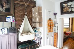 How A NYC Couple Fit A Nursery Into A 400-Square-Foot Loft. Love this crib!