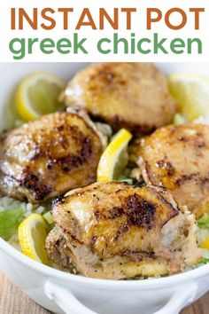 Instant Pot Greek Chicken recipe is a healthy pressure cooker Keto low carb dinner! Approximately net carbs, this is an easy paleo chicken dinner. Best Instant Pot Recipe, Instant Pot Dinner Recipes, Easy Dinner Recipes, Whole 30 Instant Pot, Greek Chicken Recipes, Healthy Chicken Recipes, Keto Chicken, Crack Chicken, Chicken Pasta
