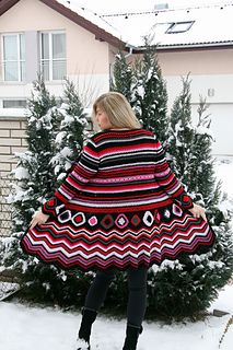 CROCHET - <3 <3 Wonderful cardigan - Crochet Cardi Berries by Fashion Martina - $$ on Ravelry - Inspired by Missoni, a designer