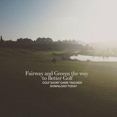 """Fairways and Greens, get better download the app at http://golfshortgametracker.com…"""
