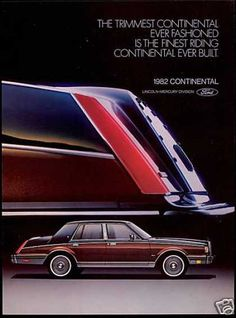 1982 Lincoln Continental...the only American car thus far to have made it onto this board