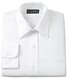 Lauren by Ralph Lauren Mens Dress Shirt, Twill - Shirts - Men - Macy's