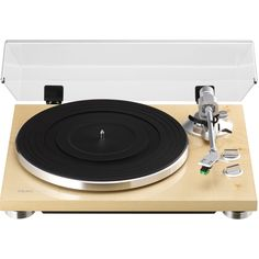 TEAC TN-300-NA 2-Speed Analog Turntable Record Player (Natural)