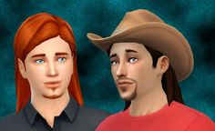 My Sims 4 Blog: Medium Wavy Hair for Males by Kiara24