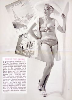 The very first Black supermodel, Dorothea Towles in the January 1954 issue of Hue magazine.