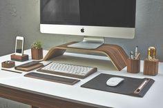 Desk accessories from Grove made desk   1 Decor