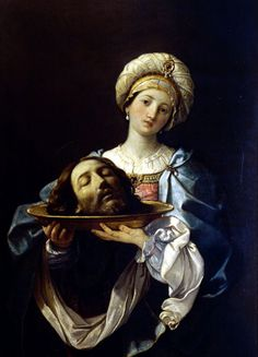Salome with the Head of John the Baptist, 1635 by Guido Reni. Baroque. religious painting
